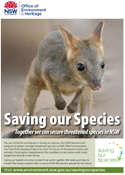 Saving our Species brochure cover.