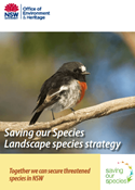 Saving our Species: Landscape species strategy cover.