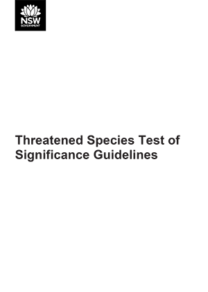 Threatened Species Test of Significance Guidelines