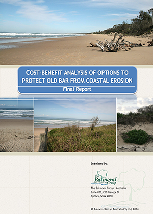 Cover for Cost-benefit analysis of options to protect Old Bar from coastal erosion