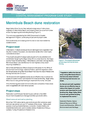 Cover for Merimbula Beach dune restoration