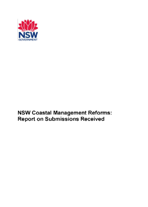 NSW Coastal Management Reforms Submission Report cover