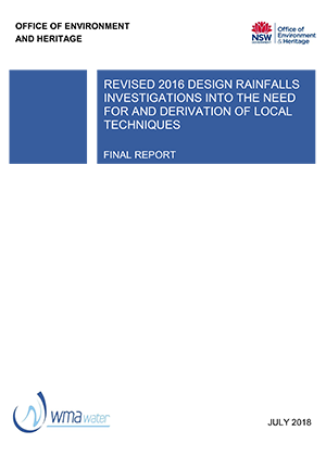 Revised 2016 Design Rainfall Investigations into the need for and Derivation of Local Techniques
