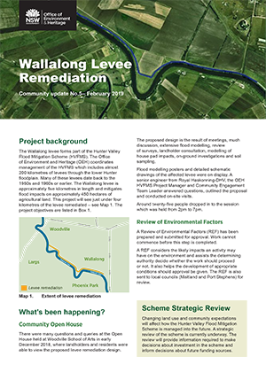 Wallalong Levee Remediation Community update February 2019