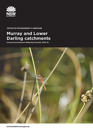 Cover of Murray and Lower Darling catchments: Annual Environmental Watering Priorities 2018-19