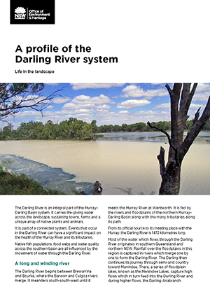 Cover image for Factsheet - Profile of the Darling River