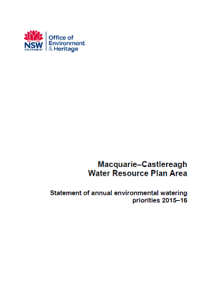 Macquarie Castlereagh Annual Water Priority Statement 2015-16 cover