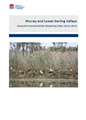 Murray Lower Darling Annual Environmental Watering Plan 2014-15 cover