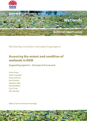 Assessing the extent and condition of wetlands in NSW Supporting report A - Conceptual framework cover