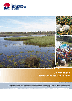 Delivering the Ramsar Convention in NSW cover