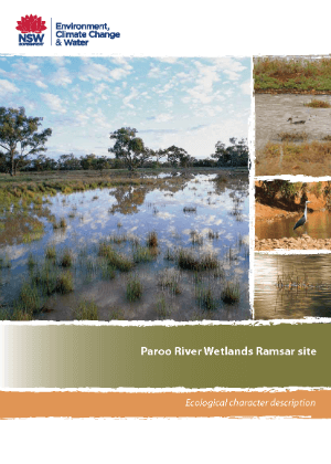 Paroo River Wetlands Ramsar site - Ecological character description cover