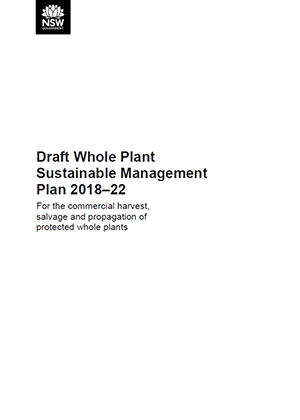 Draft Whole Plant Sustainable Management Plan 2018–22