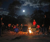 Connecting around the fire at a MAGIC cultural camp