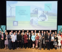 2018 Green Globe Awards winners group photo with Minister for the Environment, Gabrielle Upton