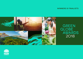 Cover of 2018 Green Globe Awards winners and finalists ebook