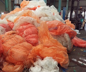 Plastic film being recycled by Plastic Forests