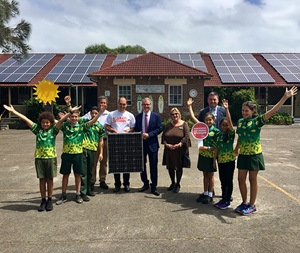 Children of Maroubra Bay Public School, participants in Solar my School