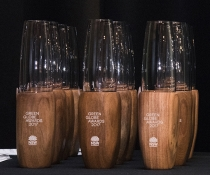 2017 Green Globe Awards trophies