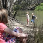 Children playing by the Murray River