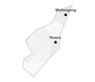 Illawarra region map