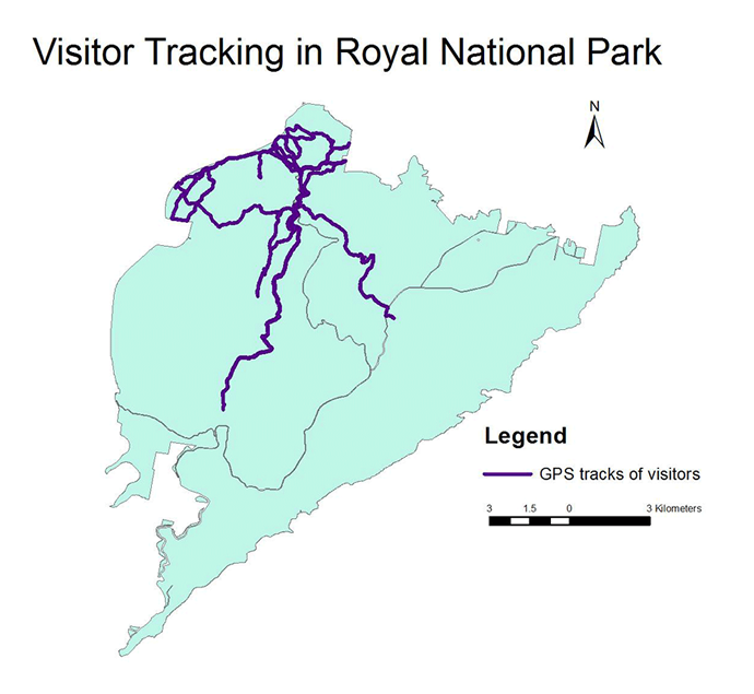 Visitor tracking in Royal National Park
