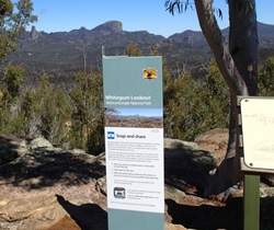 Whitegum Lookout, Snap and Share Citizen Science project, Warrumbungles National Park