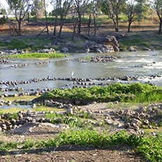 Brewarrina Aboriginal Fish Traps World Heritage protected historic site