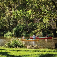 Canoeing on the Hacking River in the Audley precinct of Royal National Park