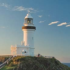 Caye Byron Lighthouse in Cape Byron State Conservation Area