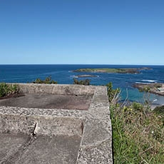 Hill 60 Illowra Battery view to Five Islands Nature Reserve near Port Kembla