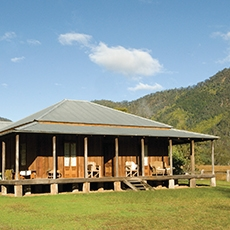 Kunderang East cedar slab homestead is available for holiday accommodation