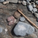 Aboriginal artefacts, stone axe and tools, Arakwal