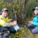 Volunteers and NPWS staff working together