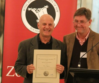 Peter Higgins, Saving our Species Project Officer, awarded a Special Commendation award by the Royal Zoological Society of NSW