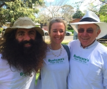 Photo of Costa Georgiadis, Patron Bushcare Major Day Out, Isabelle Connolly and Don Wilson