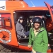 OEH Illawarra threatened species staff, Dr David Bain and Kylie McClelland ready for field work via helicopter