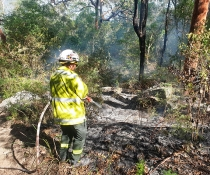 Georges River National Park hazard reduction burn