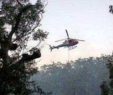 Park Air 3 working on the Woronora SFAZ Hazard Reduction burn in Heathcote National Park
