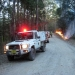 Cat 9 Vehicles on track used for control line hazard reduction burn Yarriabini National Park