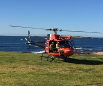 Park Air helicopter at Port Kembla