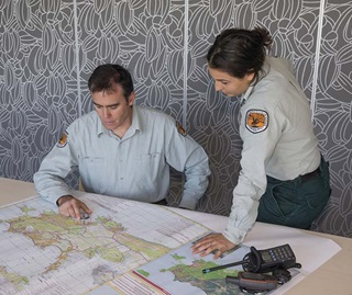 National Parks Staff Planning for Fire