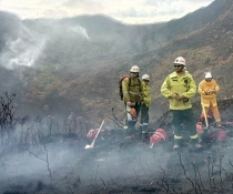 National Parks & Wildlife Service fire fighters deployed to Strathgordon area, north west Tasmania