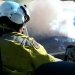 Pilots view of smoke from Tumbledown hazard reduction burn over the Brindabella National Park