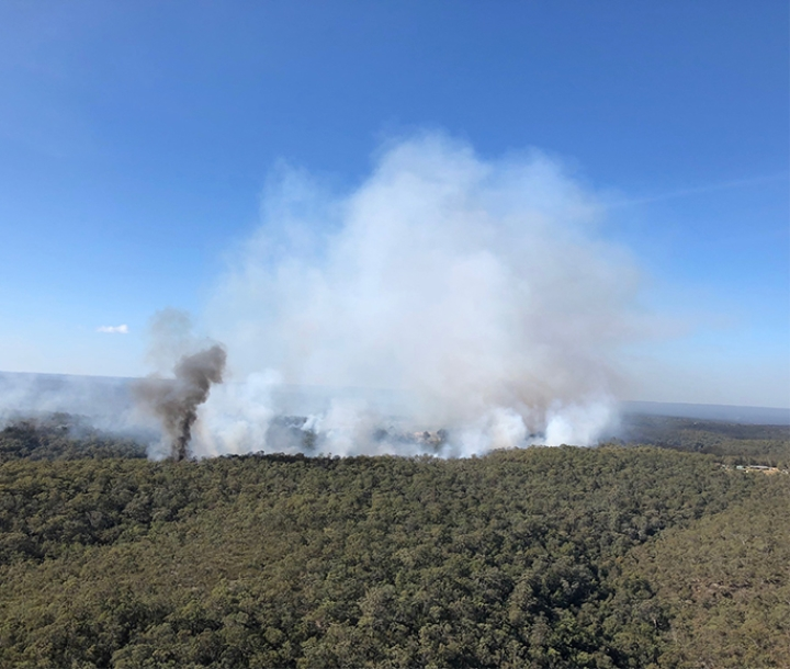 Hazard reduction burn, Wollemi National Park, Ironbark Creek