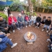 Storytelling with young local Aboriginal people around a campfire during West Fest