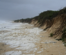 Storm causing coastal erosion