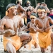 Aboriginal cultural event at Trial Bay, Arakoon National Park, in January 2020