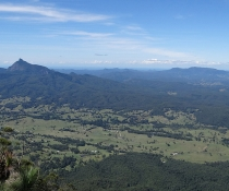 Wollumbin (Mt Warning) from Pinnacle Lookout, Border Ranges National Park