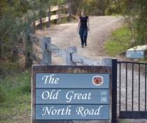 Sign for the Old Great North Road in Dharug National Park