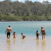 Family swimming, Nelson Lagoon, Mimosa Rocks National Park